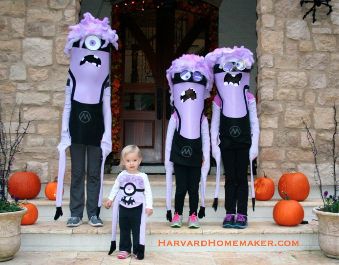Crazy Purple Minion No-Sew Costumes
