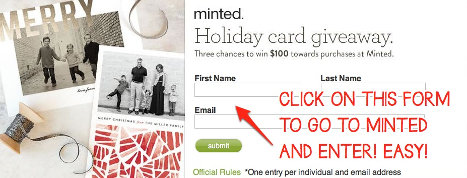 Win $100 to Spend at Minted!